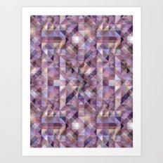 Aztec Geometric VIII Art Print