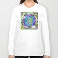 tie dye Long Sleeve T-shirts featuring Abstract Colorful Tie Dye by Phil Perkins
