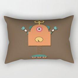 Retro Robot Toy Rectangular Pillow