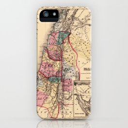 Map Of Palestine 1856 iPhone Case