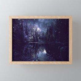 A Cold Winter's Night Midnight Blue Winter Wonderland Framed Mini Art Print