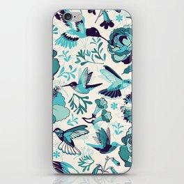 Hummingbird summerdance, Blue iPhone Skin