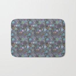 Colorful grey xmas pattern Bath Mat