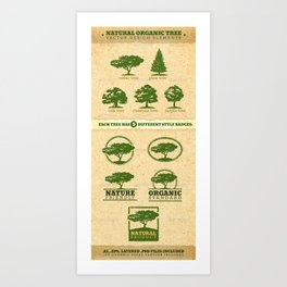 Vector Tree Art Print