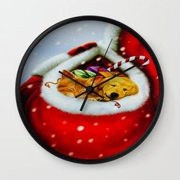 In Santa's Sack Wall Clock