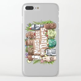 Mugs Are My Drugs Clear iPhone Case