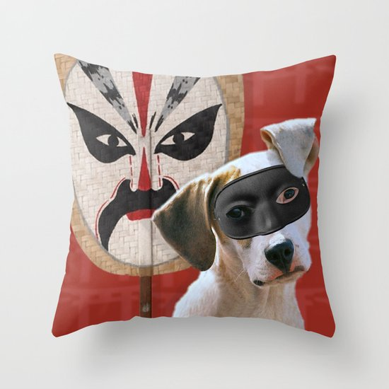 Kabooki Pooch in training Throw Pillow