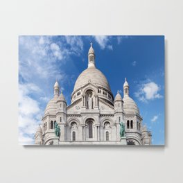 Sacre Coeur on Montmartre hill Metal Print