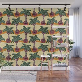 palm lips forest Wall Mural