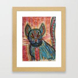 Bossa Nova KittyKat Framed Art Print