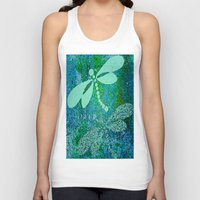 dragonfly Tank Tops featuring Dragonfly  by Saundra Myles