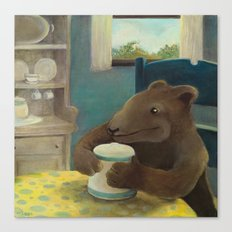 Little Bear and the cookie jar Canvas Print