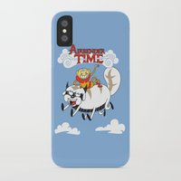 the last airbender iPhone & iPod Cases featuring Airbender Time by Kari Fry