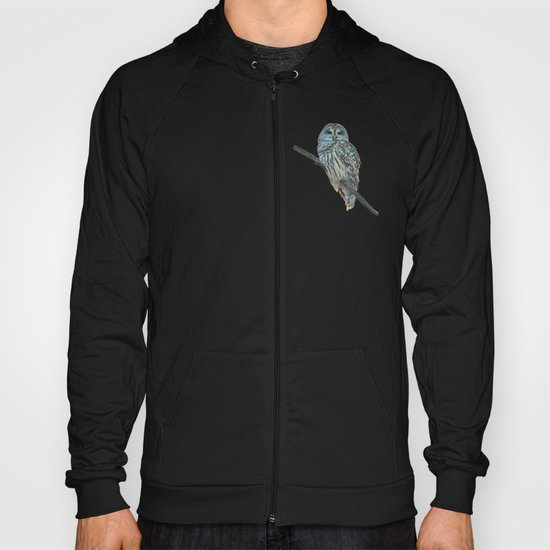 Barred Owl at Sunset Hoody