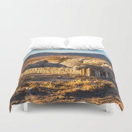 Sitting comfortably Duvet Cover