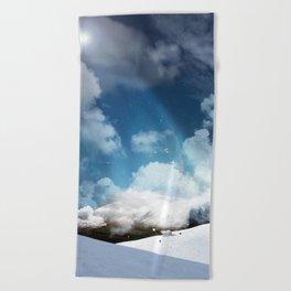 THE WHITE ODYSSEY OF HUAÏA Beach Towel