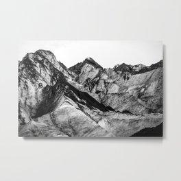 Black Dust on Solheimajokull Metal Print