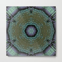 Unbelievable Mirror Mandala 1 Metal Print