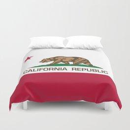 California Republic Flag - Bear Flag Duvet Cover
