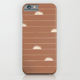 Horizon Line in Clay and Ivory iPhone Case