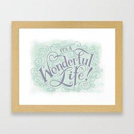 It's a Wonderful Life Framed Art Print