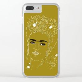 Smokin' Frida Clear iPhone Case