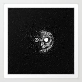 Moon Blinked Art Print