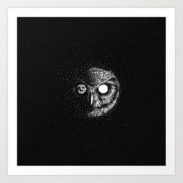 Moon Blinked Art Print