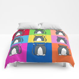Odd Kitty Out - Tabby Cat Pattern Comforters