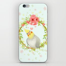 With Love From The Sweetest Cockatiel iPhone Skin