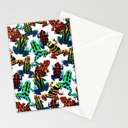 TOXIC FROGS PATTERN Stationery Cards