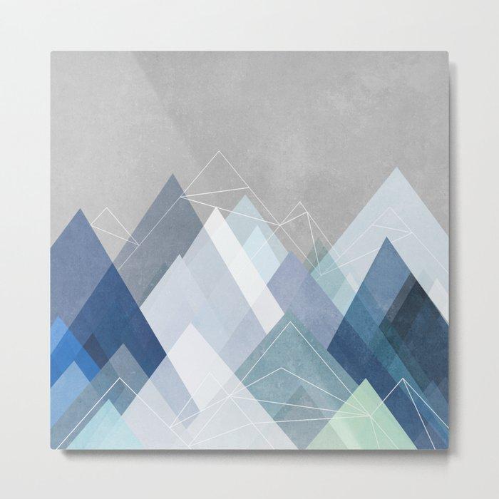 Graphic 107 X Blue Metal Print