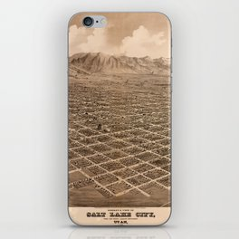 Map Of Salt Lake City 1875 iPhone Skin