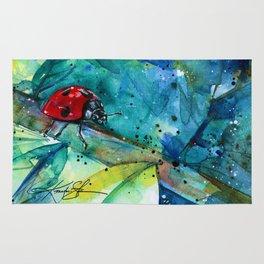 Ladybug - by Kathy Morton Stanion Rug