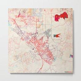 Temecula map California painting Metal Print