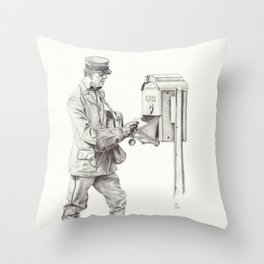 Making the Rounds Throw Pillow