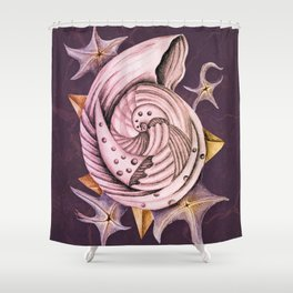 Dystopian Conch - Lavender Shower Curtain