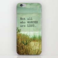 not all who wander iPhone & iPod Skins featuring Not All Who Wander by Olivia Joy StClaire