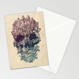 Skull Floral Stationery Cards