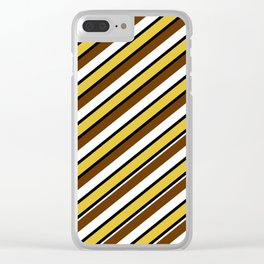 Team Colors...brown.gold,white and black Clear iPhone Case