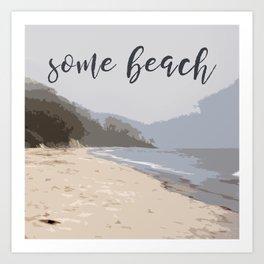 Some Beach Art Print