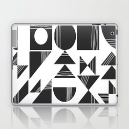 Shape and Line in Black and White Laptop & iPad Skin