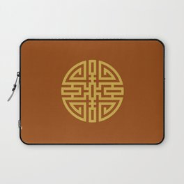 Cai / Wealth In Rust-Red And Beige Laptop Sleeve
