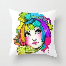 Violent Bright Throw Pillow