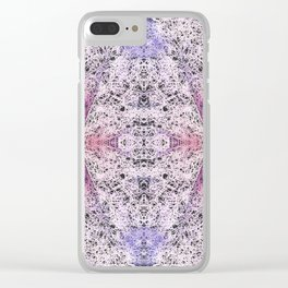 72 - Abstract digital lace Clear iPhone Case