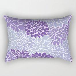 Ultra Violet Lavender Dahlias Rectangular Pillow