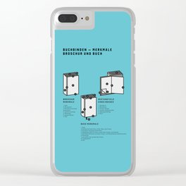 Buchbinden – Merkmale Broschur und Buch (in German) Clear iPhone Case