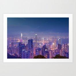 Hong Kong View V Art Print