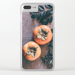Persimmon Clear iPhone Case