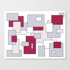 Squares - gray, purple, gray and white. Canvas Print